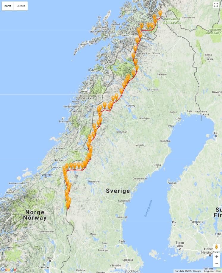 karta över gröna bandet